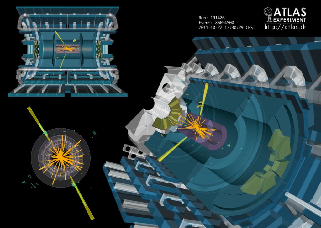 Rozpad H→γγ zrekonstruowany w detektorze ATLAS