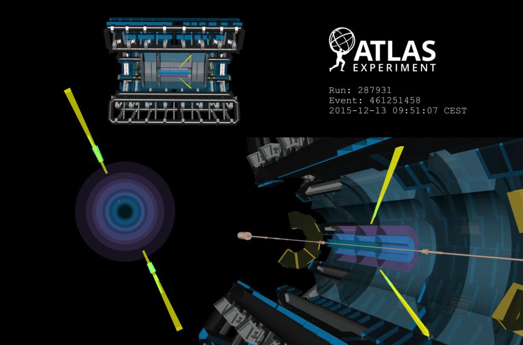 Rozpraszanie foton-fotont zarejestrowane w detektorze ATLAS